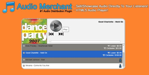 Audio Merchant - HTML5 Audio Player