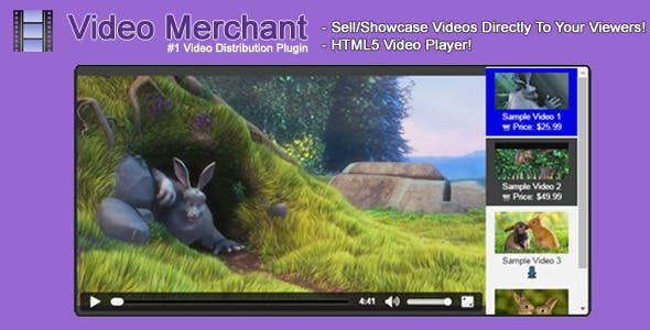 Video Merchant - HTML5 Video Player