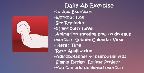 Daily Ab Exercise - CodeCanyon Item for Sale