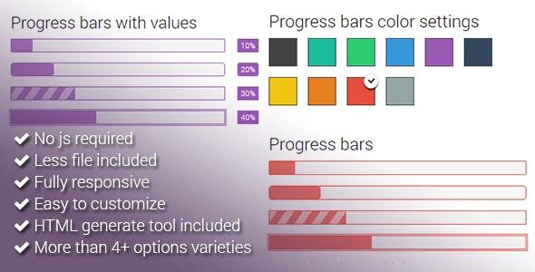 CSS3 Progress Bars - CodeCanyon Item for Sale