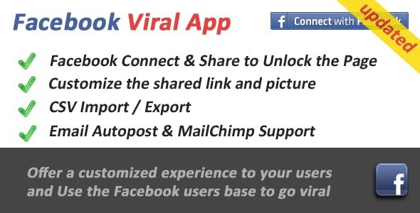 Facebook Viral and Marketing Social App