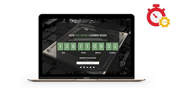 Responsive Coming Soon Landing Page / Holding Page for WordPress
