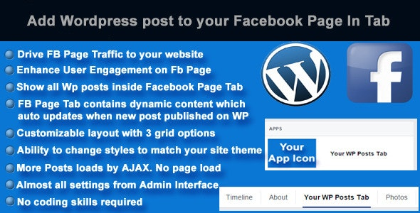 Add Wordpress Posts To Facebook Page In Tab - CodeCanyon Item for Sale