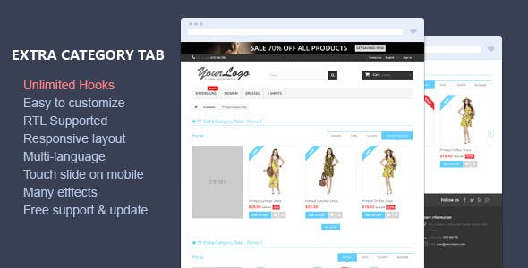 Extra Category Tabs - Responsive Prestashop Module