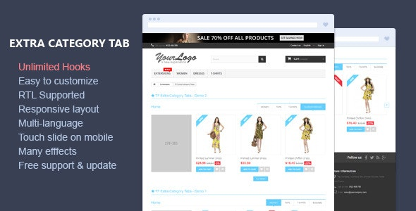 Extra Category Tabs - Responsive Prestashop Module - CodeCanyon Item for Sale