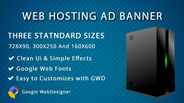 Web Hosting ad banner - CodeCanyon Item for Sale