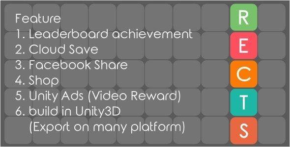 Rects - Addictive Puzzle Game - CodeCanyon Item for Sale