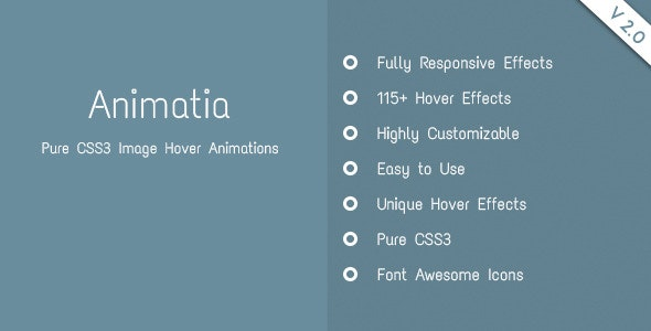 Animatia - CSS Image Hover Effects - CodeCanyon Item for Sale