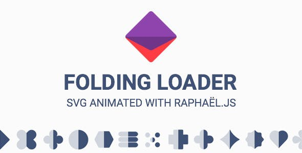 Folding Loader Animated SVG