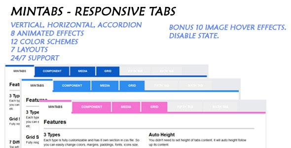 Mintabs - Responsive Tabs - CodeCanyon Item for Sale