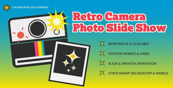 Retro SVG Camera Photo Slide Show