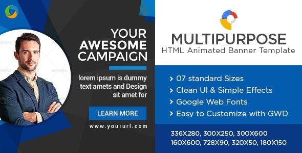 Multi Purpose HTML5 Banners - Google Web Designer - CodeCanyon Item for Sale