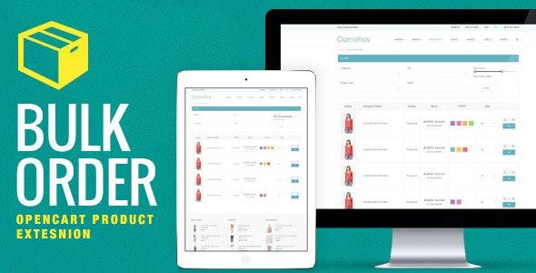 OpenCart Bulk Order Module - CodeCanyon Item for Sale