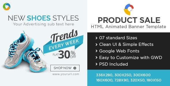 E-Commerce HTML5 Banners - Google Web Designer - CodeCanyon Item for Sale
