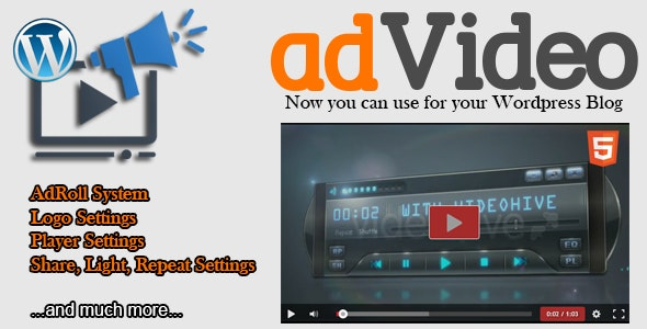 adVideo Player - Responsive Player for WordPress - CodeCanyon Item for Sale