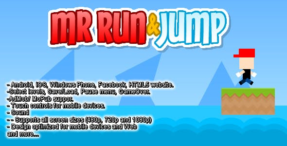 Run and Jump Side Scrolling