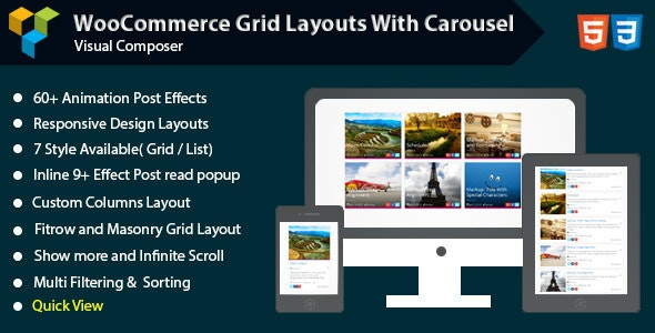 WPBakery Page Builder - Woocommerce Grid with Carousel (formerly Visual Composer) - CodeCanyon Item for Sale
