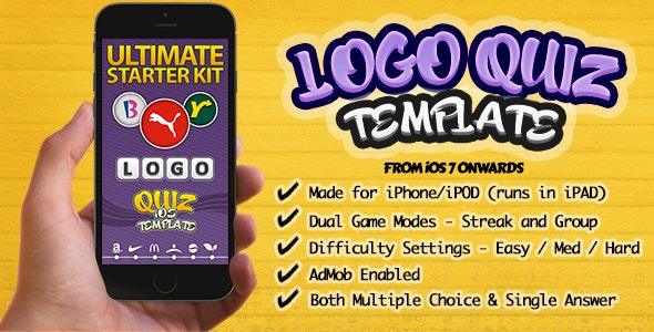 Ultimate Logo Quiz Starter Kit for iPhone-iOS - CodeCanyon Item for Sale