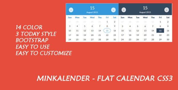 Minkalender - Flat Calendar CSS3