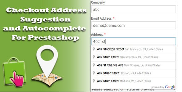 Address suggestion and Autocomplete for Prestashop