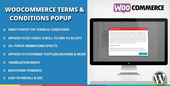 WooCommerce Terms and Conditions Popup - CodeCanyon Item for Sale
