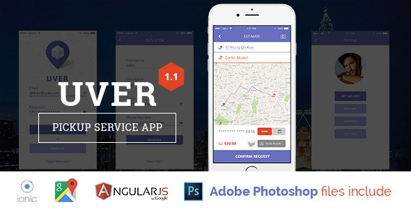 Uver - Deliver service template - CodeCanyon Item for Sale