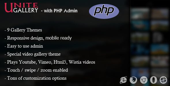 Unite Gallery - With PHP Admin