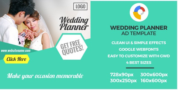Wedding - GWD HTML5 Ad Banners - CodeCanyon Item for Sale