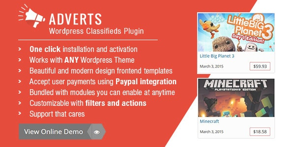 Adverts | WordPress Classifieds Plugin - CodeCanyon Item for Sale