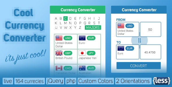 Cool Currency Converter - CodeCanyon Item for Sale