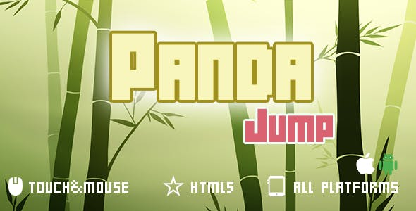 Panda Jump-Html5 mobi game