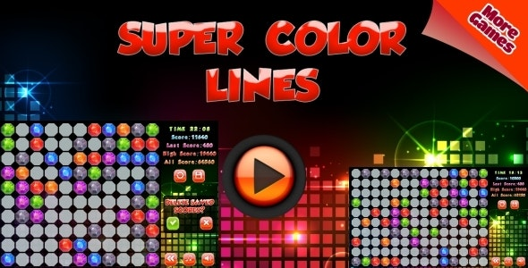 Super Color Lines - HTML5 Mobile Game (Construct 2 | Capx) - CodeCanyon Item for Sale