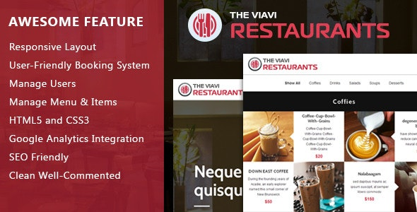 The Viavi Restaurant System - CodeCanyon Item for Sale