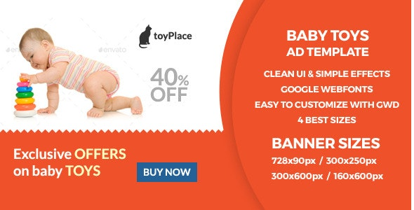 Toy - HTML5 GWD Ad Banner - CodeCanyon Item for Sale