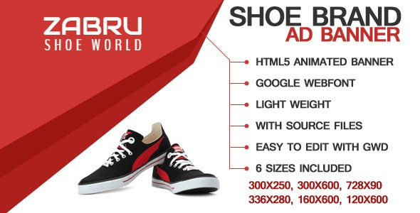 Shoe Ad Template - CodeCanyon Item for Sale