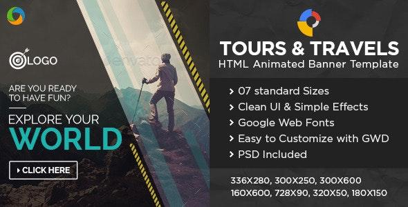 Travel HTML5 Banners - Google Web Designer - CodeCanyon Item for Sale