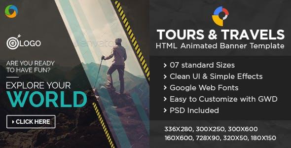 Travel HTML5 Banners - Google Web Designer