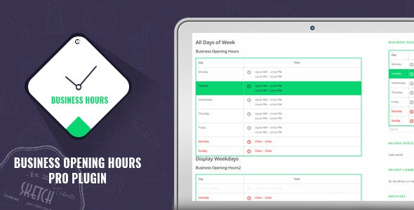 Business Opening Hours Pro Plugin - CodeCanyon Item for Sale