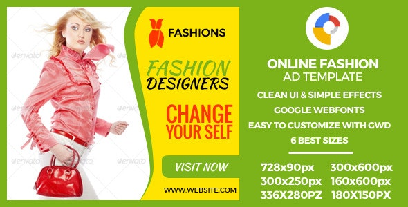 Fashion - HTML5 GWD Ad Banners - CodeCanyon Item for Sale
