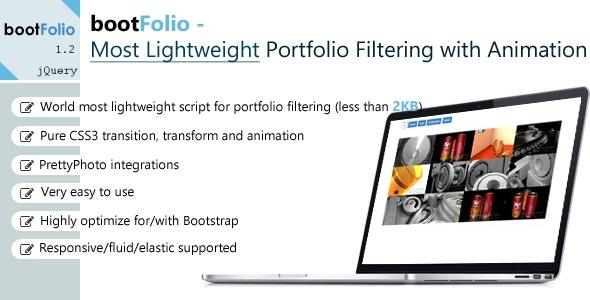 bootFolio - Most Lightweight Portfolio Filtering - CodeCanyon Item for Sale