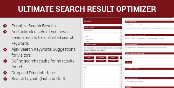 Ultimate Search Results Optimizer - CodeCanyon Item for Sale