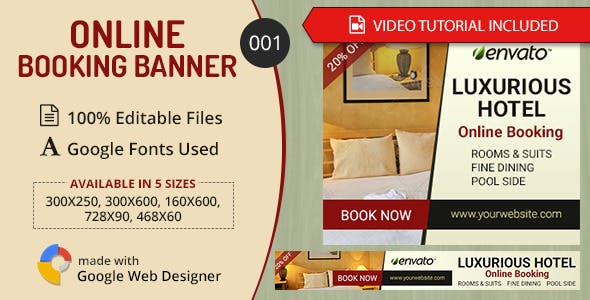 Multipurpose Online Booking Banner 001