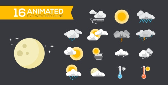 Animated SVG Weather Icons - CodeCanyon Item for Sale