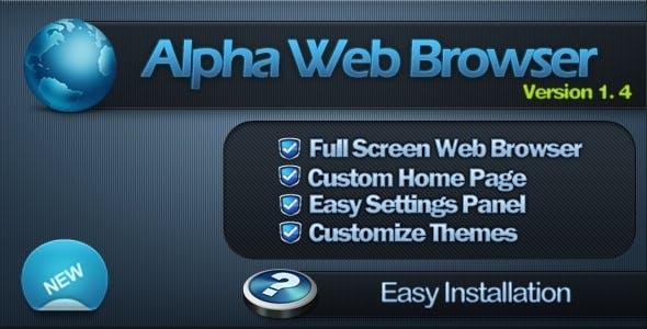 Alpha Full Screen Web Browser