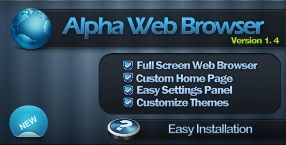 Alpha Full Screen Web Browser - CodeCanyon Item for Sale