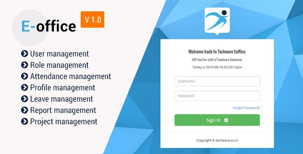 Office Attendence Management Software Solution - CodeCanyon Item for Sale