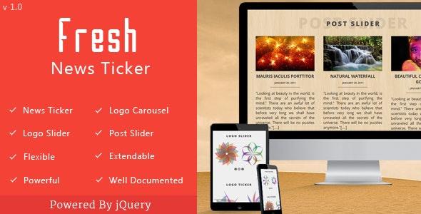 Fresh News Ticker - CodeCanyon Item for Sale