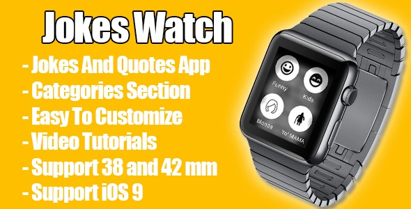 Jokes Watch - Apple Watch app for Jokes and Quotes - CodeCanyon Item for Sale