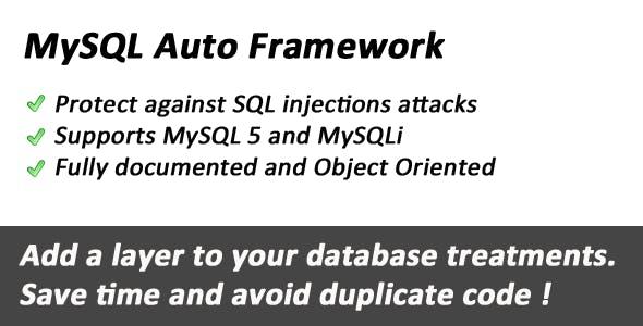 MySQL database Auto Framework