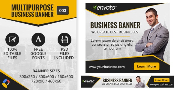 Multipurpose Business Banner 003 - CodeCanyon Item for Sale